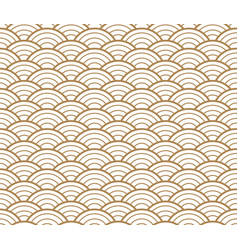 Japanese gold background and pattern wave pattern vector