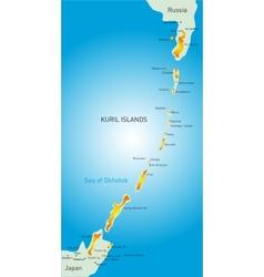 Kuril island vector image