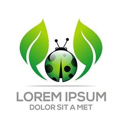 Ladybug logo vector