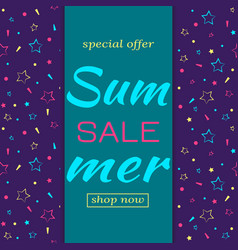 lettering template for summer sales vector image