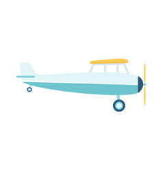 lghtweight propeller airplane or retro plane vector image
