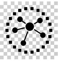 links diagram icon vector image