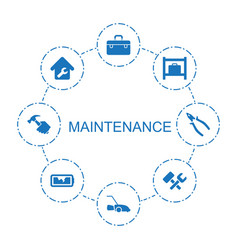 maintenance icons vector image