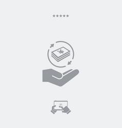 money transfer service - yen - minimal icon vector image