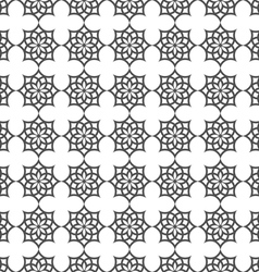 Monochrome seamless pattern in islamic motif vector
