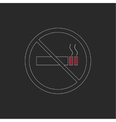 No smoking sign No smoke icon vector