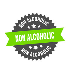 Non alcoholic sign non alcoholic circular band vector