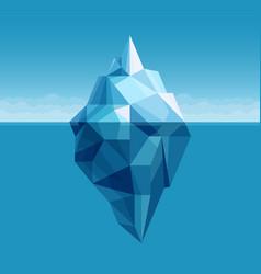 Ocean iceberg antarctic landscape vector