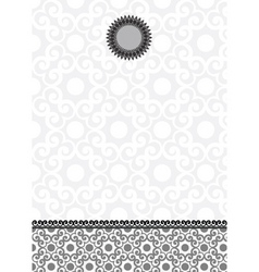 ornate lace background and frame vector image