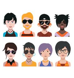 people avatars women men avatar vector image