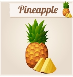 Pineapple detailed icon vector