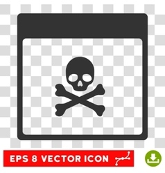 Poison Skull Calendar Page Eps Icon vector image