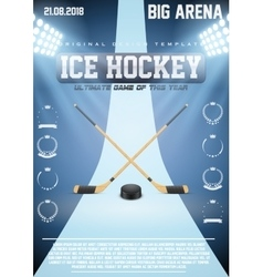 Poster Template of Ice Hockey Games vector