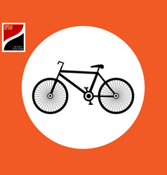 road bike icon vector image
