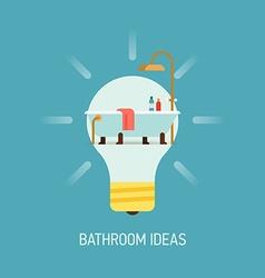 Room Ideas for a Bathroom vector image