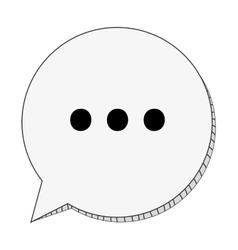 Round conversation bubble with dots vector