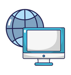 Screen computer technology with global connection vector
