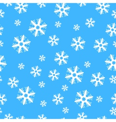 Seamless Christmas decoration snowflakes vector image