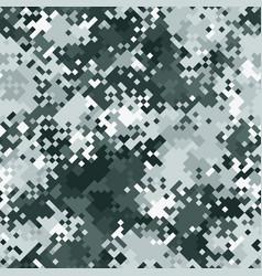 seamless digital tundra pixel camo texture vector image