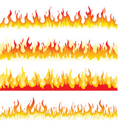 Seamless fire flame vector