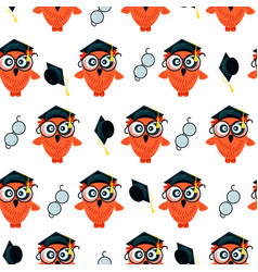 seamless pattern made owls vector image