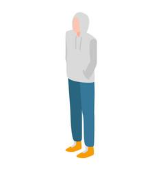 Single student icon isometric style vector