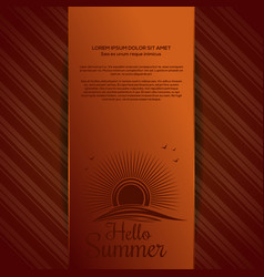 Solar logo icon on summer orange background vector