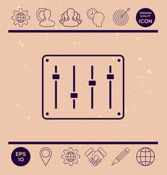 sound mixer console icon vector image