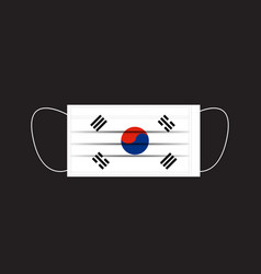 South korea flag printed on a mask vector