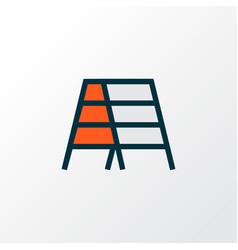 Stepladder icon colored line symbol premium vector