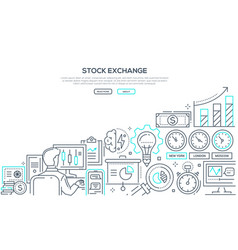 stock exchange - modern line design style vector image
