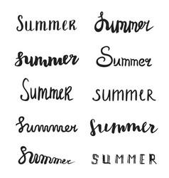 Summer quote brush pen handwritten lettering vector