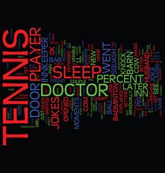 tennis jokes text background word cloud concept vector image