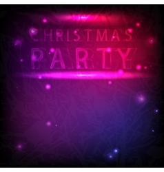 The inscription Christmas party in neon style vector