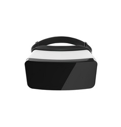Vr glasses black and white virtual reality vector