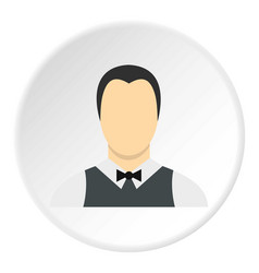 waiter icon circle vector image