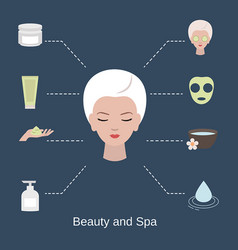 beauty and spa salon infographics beauty and spa vector image vector image
