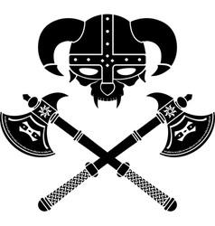 fantasy viking helmet second variant vector image