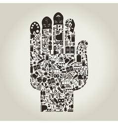 Hand art vector image