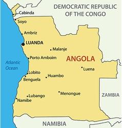 Republic of Angola - map vector image vector image
