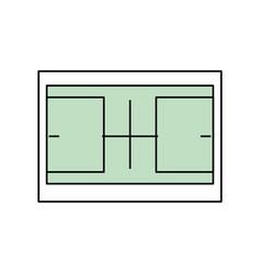 Tennis field symbol vector