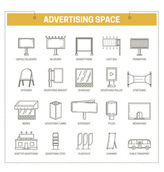 advertising media constructions spaces thin vector image