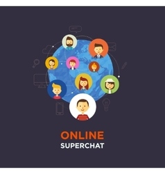 Online chat social media vector image vector image