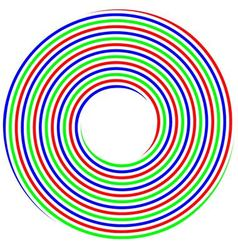 RGB spiral concept photo shoot vector image vector image
