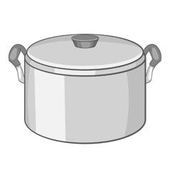 Saucepan icon cartoon style vector image
