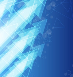 blue arrow abstract background vector image vector image