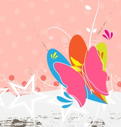 butterfly background design vector image vector image