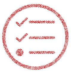 Checklist fabric textured icon vector