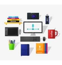 Designers tools vector image