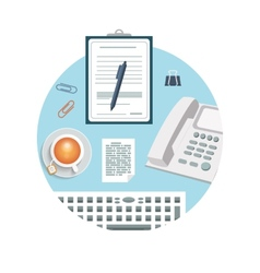 Phone with clipboard and pencil vector image vector image